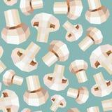 Vintage polygon mushroom blue pattern Stock Images