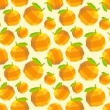 Vintage polygon orange pattern Stock Photography