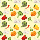 Vintage polygon pattern with vegetables Royalty Free Stock Image
