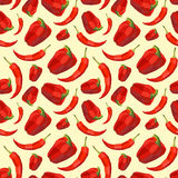 Vintage polygon pepper pattern Royalty Free Stock Images