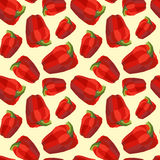 Vintage polygon pepper red pattern Stock Photo
