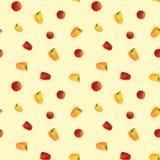 Vintage polygon pepper tomato pattern Royalty Free Stock Photo