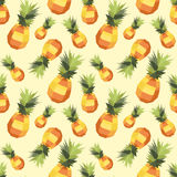 Vintage polygon pineapple pattern Royalty Free Stock Image