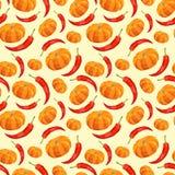 Vintage polygon pumkin pepper pattern Royalty Free Stock Images