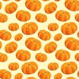 Vintage polygon pumpkin pattern Royalty Free Stock Images