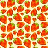 Vintage polygon strawberry pattern Royalty Free Stock Photos