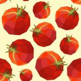 Vintage polygon tomato pattern Stock Photos