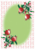 Vintage pomegranate pattern frame Royalty Free Stock Photography