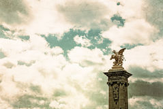 Vintage Pont Alexandre III Royalty Free Stock Image