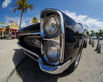 Vintage Pontiac GTO, Fort Myers Beach Florida. A classic vintage antique Pontiac GTO muscle car parked at Fort Myers Beach Florida taken with a fisheye, wide Stock Photos