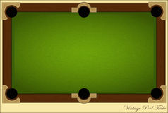 Vintage Pool Table Royalty Free Stock Photos