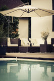 Vintage poolside lounge Royalty Free Stock Photos