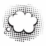 Vintage Pop Art Comics Speech Bubbles Vector Black and White Thinking Illustration. Icon Stock Image