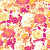 Vintage Pop Art Floral Composition Stock Photo
