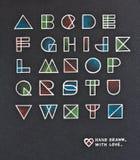 Vintage pop art style alphabet Royalty Free Stock Photos