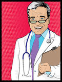 Vintage Pop Art Style Comic book Doctor Stock Photography
