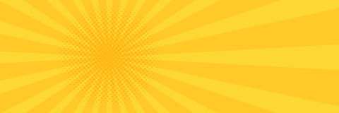 Vintage pop art yellow background. Banner  illustration Royalty Free Stock Images