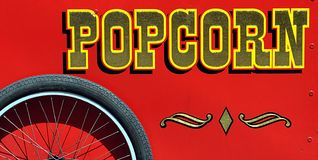 Vintage Popcorn Cart Royalty Free Stock Photos