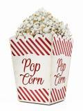 Vintage popcorn isolated on white background. 3D illustration.  Stock Image
