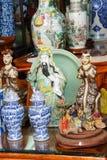 Vintage porcelain in Antiques market Royalty Free Stock Image
