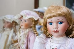 Vintage porcelain dolls Royalty Free Stock Photo