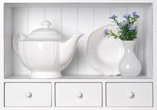 Vintage porcelain tableware Stock Image