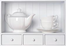 Vintage porcelain tableware Stock Photos