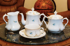 Vintage porcelain tea set Royalty Free Stock Photo