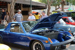 Vintage Porche no evento do streetside Imagem de Stock