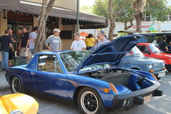 Vintage Porche at streetside event Royalty Free Stock Photography