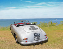 Vintage porsche carrera speedster convertible car. Photo of a vintage porsche carrera speedster 356 convertible car on display at whitstable outdoor car show Stock Images