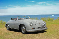 Vintage porsche carrera speedster convertible car. Photo of a vintage porsche carrera speedster 356 convertible car on display at whitstable outdoor car show Royalty Free Stock Images
