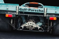 Vintage Porsche 917  Gulf Stock Photo