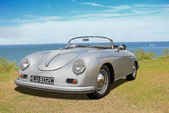 Vintage porsche 356 speedster convertible car. Photo of a vintage porsche 356 speedster convertible car on display at whitstable car show during summer of 2016 stock photography