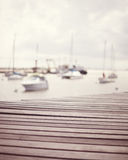 Vintage port boardwalk Royalty Free Stock Images