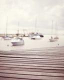 Vintage port boardwalk Royalty Free Stock Images
