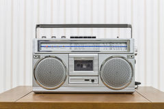 Vintage Portable Boom Box Style Radio Cassette Player Stock Photography