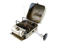 Vintage portable burner - primus. Vintage portable burner - primus isolated on white background Stock Photography