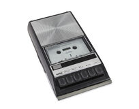Vintage Portable Cassette Tape Player and Recorder.  Royalty Free Stock Images