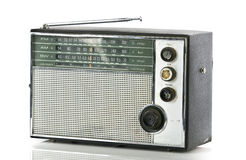 Vintage portable radio. Isolated on white Stock Photo
