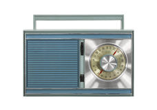 Vintage Portable Radio Isolated Royalty Free Stock Image