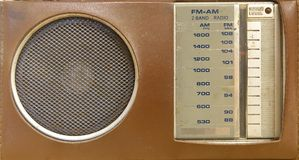 Vintage Portable Radio Stock Photography