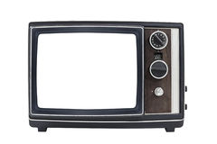 Vintage Portable Television with Empty Screen Royalty Free Stock Photo