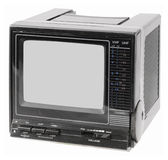 Vintage portable TV Royalty Free Stock Photos