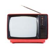 Vintage portable TV set Stock Photo