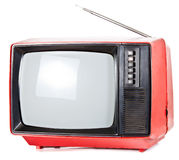 Vintage portable TV set Royalty Free Stock Image