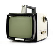 Vintage portable TV set Royalty Free Stock Photos