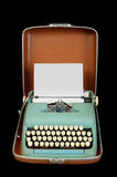 Vintage portable typewriter Stock Photography
