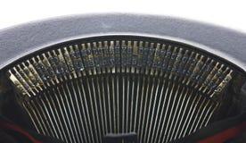 Vintage portable typewriter close up on type Royalty Free Stock Image