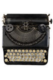 Vintage portable typewriter with Cyrillic letters Royalty Free Stock Photo